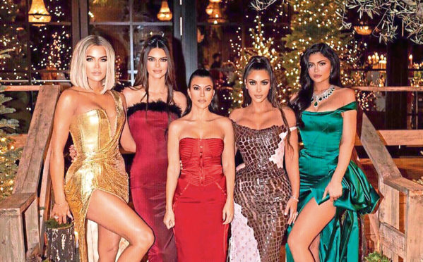 From left: sisters Khloe, Kendall,  Kourtney, Kim and Kylie