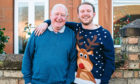Covid survivor, George Clark, who spent several weeks in a coma earlier this year when he caught the virus. He is now doing much better, and is looking forward to spending Christmas with his family.
