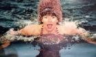 Doon swimming in the Arctic.