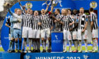 St Mirren lift the cup in 2013