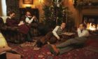 Mrs Hall (Anna Madeley), Siegfried (Samuel West), Tristran (Callum Woodhouse) and James (Nicholas Ralph) look set for a quiet Christmas