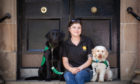 Carla Haizelden with her dogs Billy and Quill