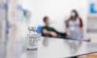 A vial of coronavirus vaccine developed by AstraZeneca and Oxford University
