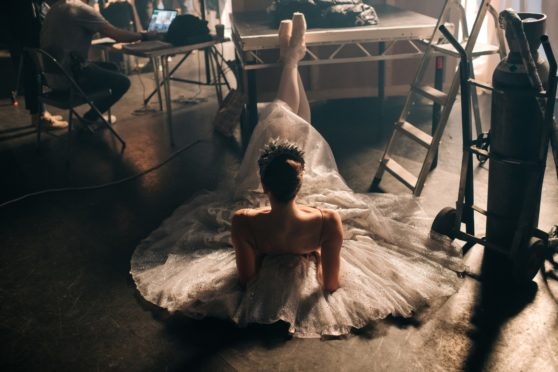 Marge Hendrick on the set of The Secret Theatre, Scottish Ballet's first feature film which premiered online