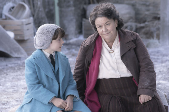 Harry Taylor as Roald Dahl and Dawn French as Beatrix Potter