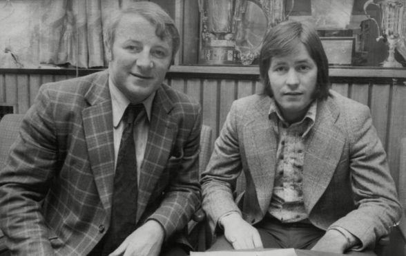 Jim McCalliog with Tommy Docherty