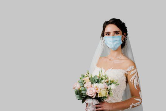 A masked bride