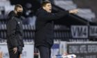 Steven Gerrard on the touchline during the defeat to St Mirren