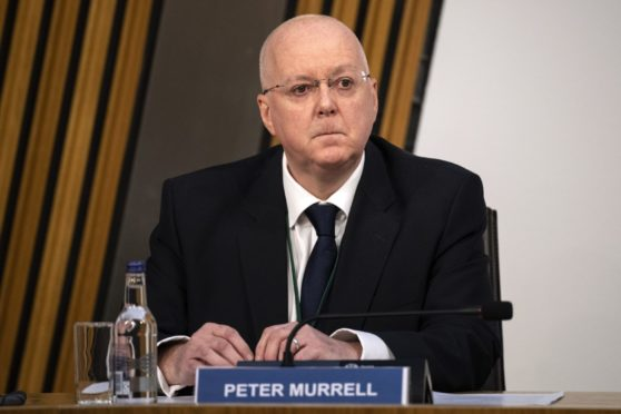 Peter Murrell, SNP Chief Executive, gives evidence to the inquiry