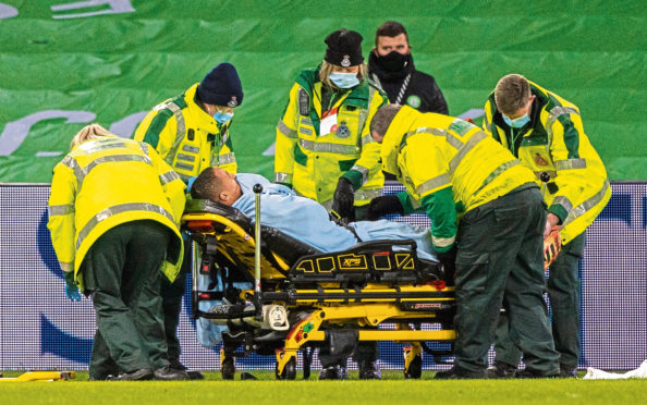 Christopher Jullien was stretchered off in midweek