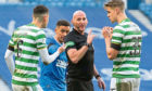 Nir Bitton pleads his case to Bobby Madden, but it was to no avail