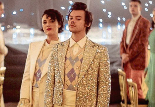 Harry Styles and Pheobe Waller-Bridge in Harry's new video for his song, Treat People With Kindness.