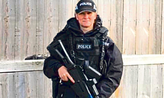 Rhona Malone before, she claims, being forced from her role as a firearms officer