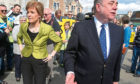 Nicola Sturgeon with Alex Salmond whilst on the General Election campaign trail in Inverurie in the Gordon constituency.