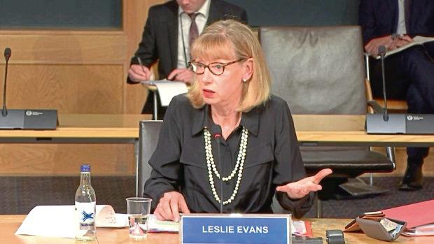 Civil servant Leslie Evans