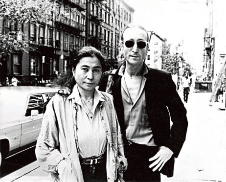 John Lennon and Yoko Ono in New York before his death.