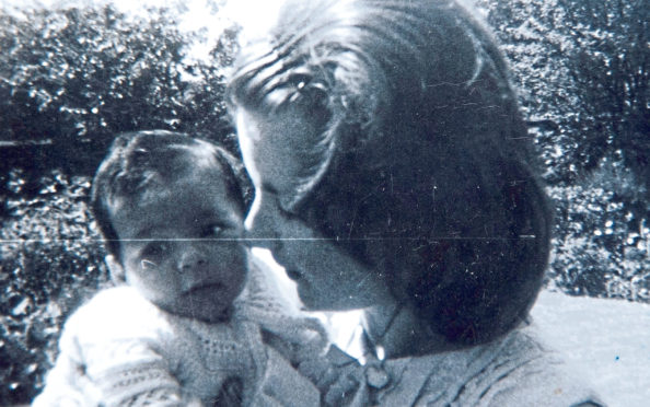 Marion McMillan and the baby son she lost