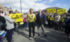 Nicola Sturgeon and Alex Salmond campaigning in 2015.