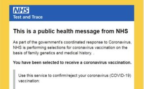 Beware of scam emails offering coronavirus vaccine and claiming to be from the NHS