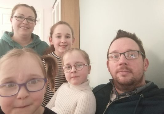 Gary and wife Tricia with daughters Polly, Scarlet and Amelia