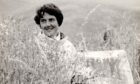 Artist Joan Eardley in a cornfield at Catterline behind her cottage
