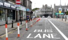 A bus lane in Aberdeen