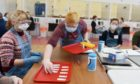 Students are tested for Covid-19 at the Butchart Building, Aberdeen University