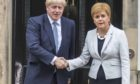 Prime Minister and Conservative Leader, Boris Johnson visits Bute House to meet First Minister of Scotland, Nicola Sturgeon.