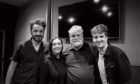 Roddy (left) and Tommy (right) with Tress MacNeille and Maurice LeMarche, Dot and The Brain from the show