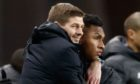 Steven Gerrard, with Alfredo Morelos says the season must be played to a close
