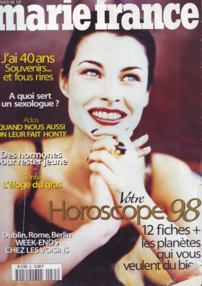 Connie Houston on the cover of Marie France