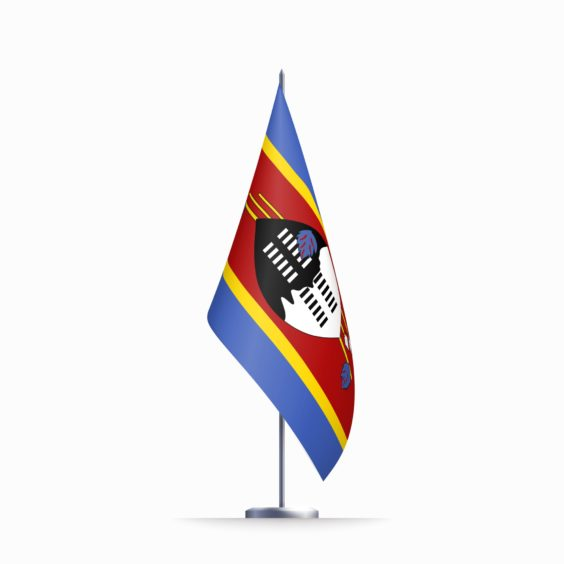 The flag of Eswatini