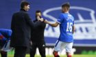 Rangers boss Steven Gerrard with starlet Nathan Patterson in happier times                        but now there's some distance between them.