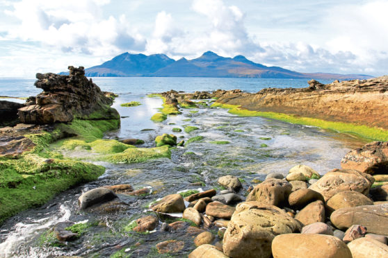 Isle of Rum viewed from the Isle of Eigg.
