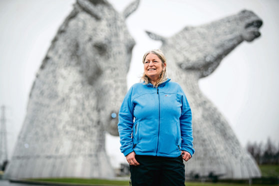 Scotland's most travelled woman, Jackie Gilchrist who is stuck in Falkirk during lockdown and furloughed.