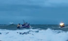 Fishing boat rescued in treacherous conditions off Peterhead.