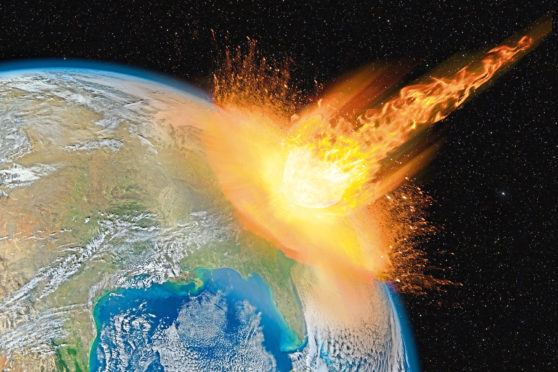Nostradamus predicted the end of the word would happen by meteors.