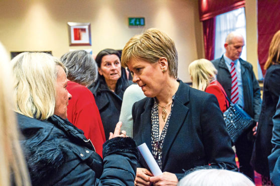 Nicola Sturgeon meets mesh-damaged women in 2019 before promising a review of their records
