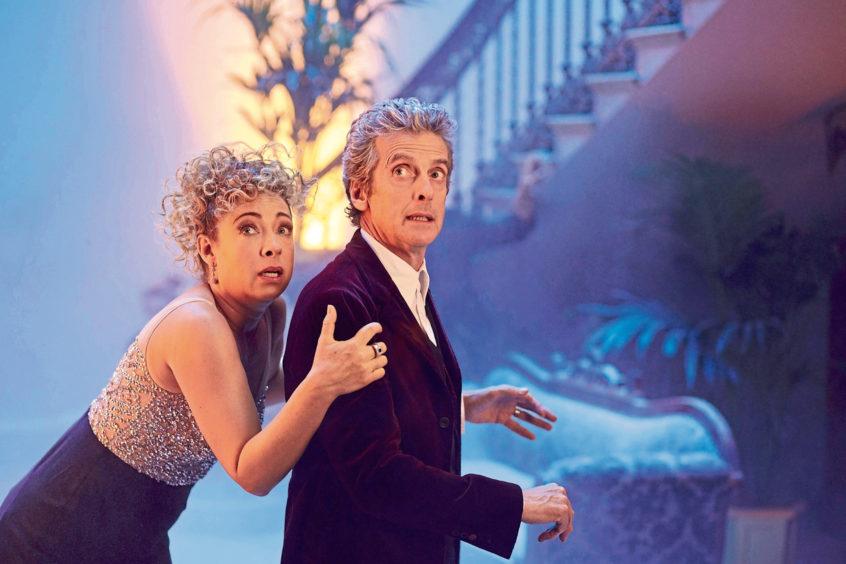 Alex Kingston alongside Peter Capaldi in Doctor Who