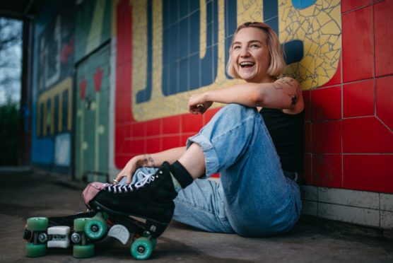 Alicia Rodgers, who took up roller skating during lockdown