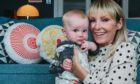 STV's Laura Boyd at home in Glasgow with her co-star, daughter Penelope