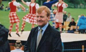 Charles Kennedy attending a Highland Games