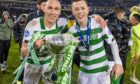 Scott Brown and Calum McGregor with the BetFred Cup