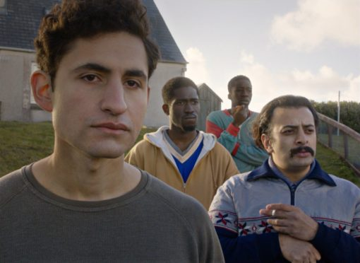 Amir El-Masry, left, leads the cast of Limbo, filmed on North and South Uist.