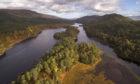 Loch Beinn a Mheadhoin in Glen Affric, Scotland.