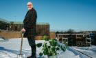 Gardening presenter Murdo MacDonald in his rooftop garden