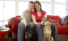 Luke and Jenny Ripley at home in Glenrothes with their dogs