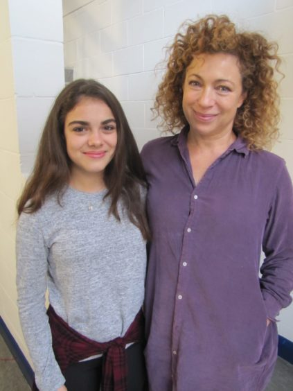 Alex Kingston with daughter Salome