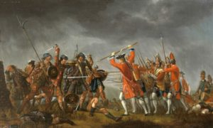 The Battle of Culloden of 1745 - the last battle ever fought on British soil.