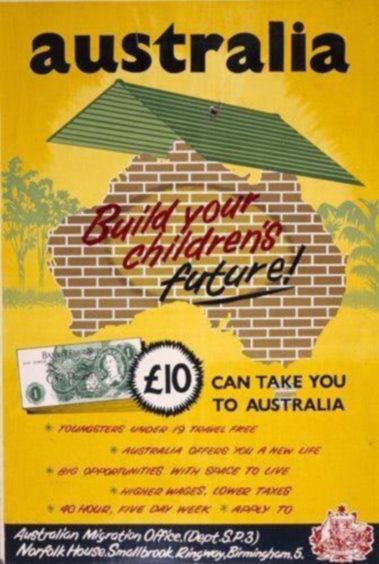 The advert that lured the Youngs to Australia on a £10 deal for migrating families